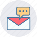 chat, email, envelope, inbox, letter, mail, message icon