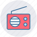 communication, media, music, radio, retro, stations, vintage icon