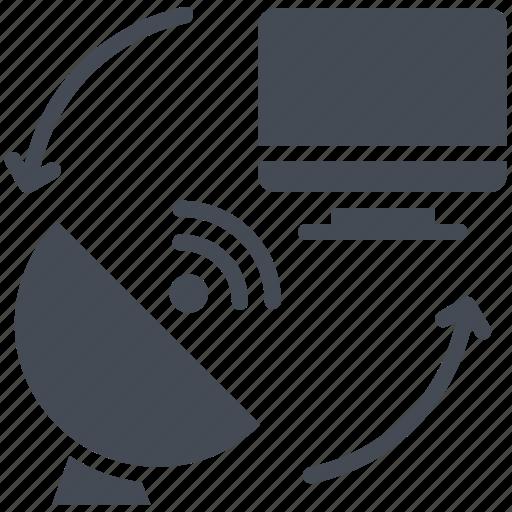 dish antenna, radar, satellite, transmission, tv icon