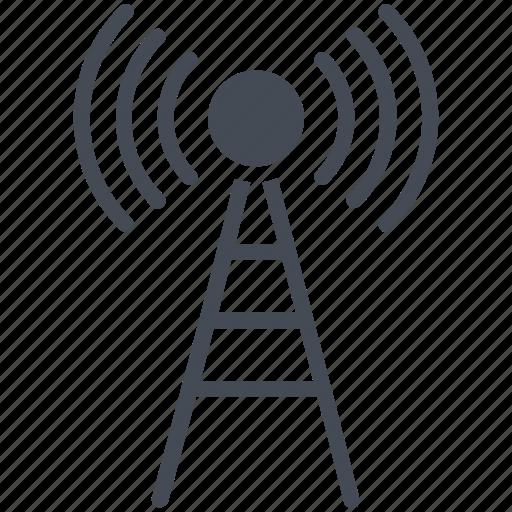 communication, signal tower, wifi antenna, wifi tower, wireless antenna icon