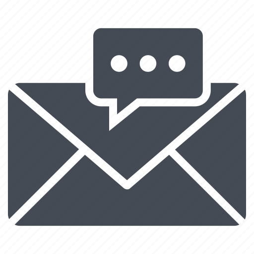 chat bubble, email, envelope, inbox, letter icon
