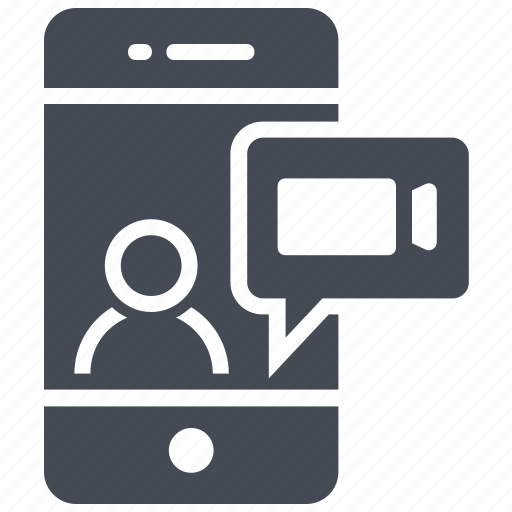 chatting, mobile, video call, video chat, video conference icon