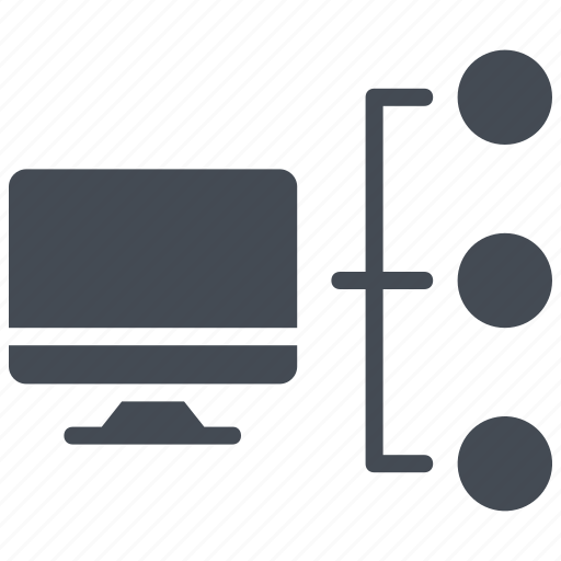 computer server, computer sharing, connected computers, networking, server connection icon