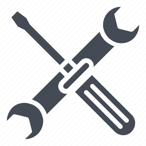 Hammer, repair tools, settings, spanner, wrench icon - Download on Iconfinder