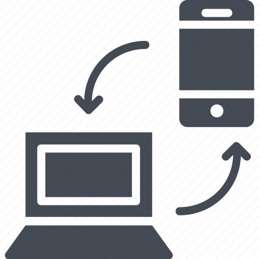 laptop, mobile, networking, server connection, wireless network icon