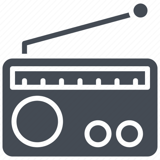 Media, old radio, radio, radio set, transmission icon - Download on Iconfinder