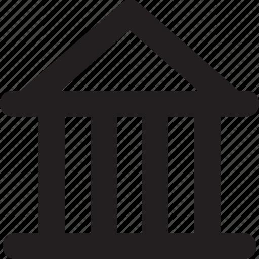 architecture, building, college, real estate, school icon