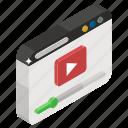 digital video, internet video, online video, video streaming, video website icon