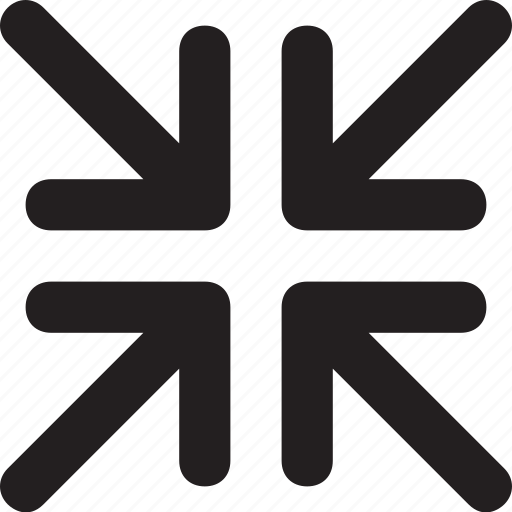 arrows, exit, exit fullscreen, minimize, ui icon
