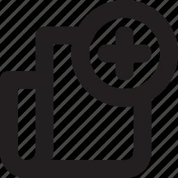 add, create file, document, new, new file, report icon