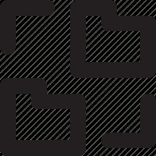 archives, folder, folder sharing, networking, storage icon
