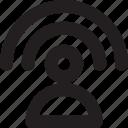 internet, social media, user, wifi, wireless icon