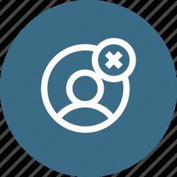 avatar, cancel, close, cross, male, profie, user icon