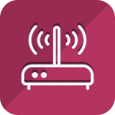 communication, device, internet, network, networking, router, wireless icon