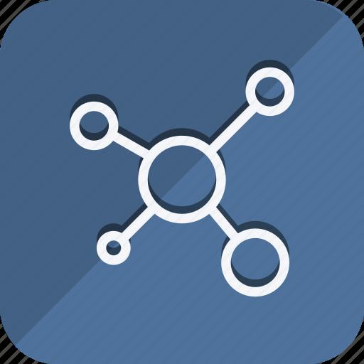 atoms, communication, device, molecule, network, networking, wireless icon