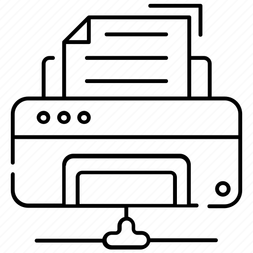 connected typesetter, network printer, printing machine, shared printer, typographer icon