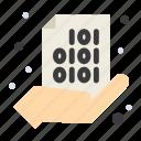 binary, code, coding, hand, share