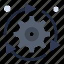 arrow, configuration, gear, options, setting