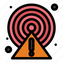 alert, caution, circle, point