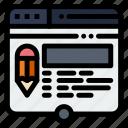edit, layout, page, pencil, website