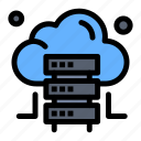 cloud, hosting, server icon