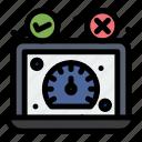 dashboard, performance, speed, speedometer, test, website icon