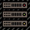 database, hosting, rack, server