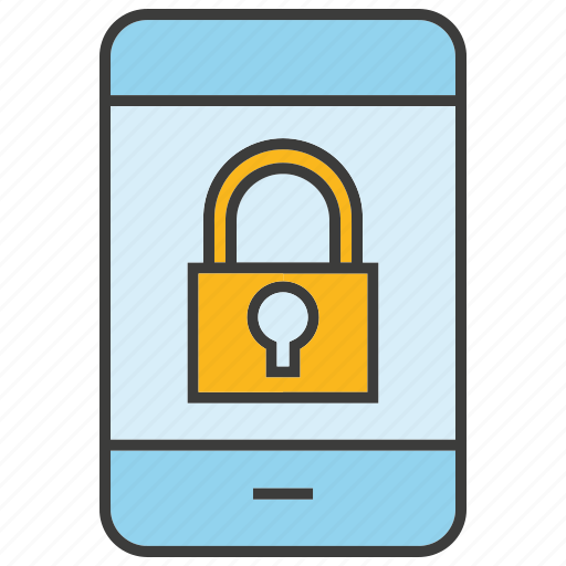 key, lock, mobile, network, phone, security, smart phone icon