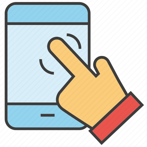 hand, mobile, phone, pointer, touch icon