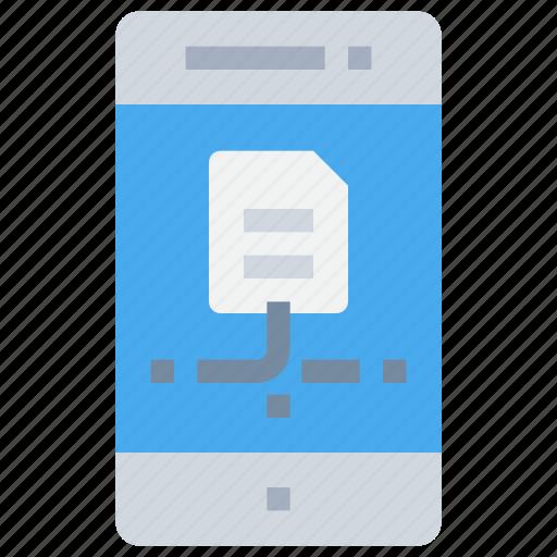data, file, mobile, network, smartphone icon