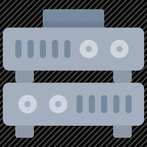 data, database, server, storage, technology icon
