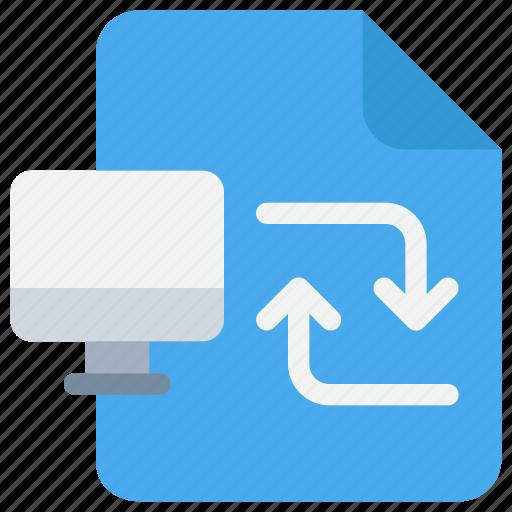 Computer, data, exchange, information icon - Download on Iconfinder