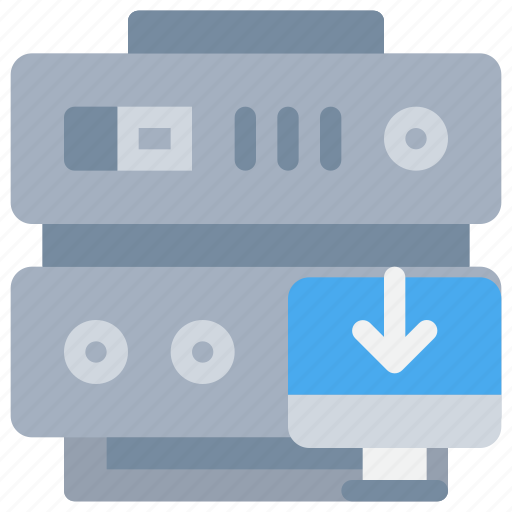 computer, data, database, download, server, web icon