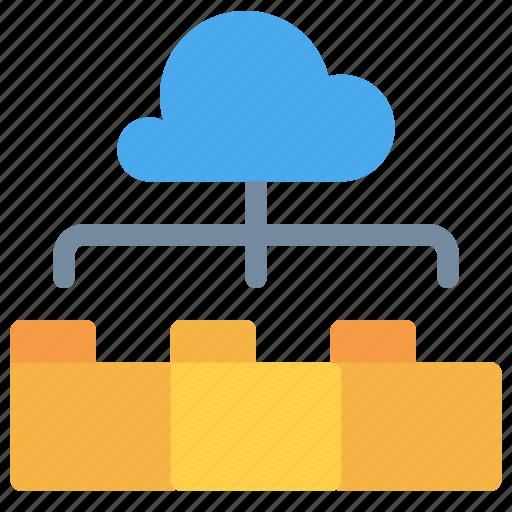 cloud, document, folder, network, stoage icon