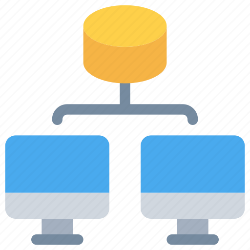 computer, connect, data, database, network icon