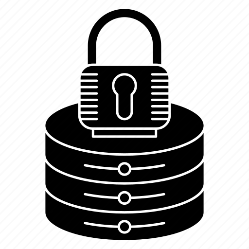Lock, security, network and hosting, padlock, server icon