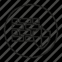bricks, defense, protection, shield, wall