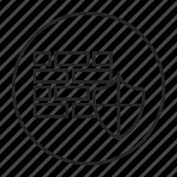 bricks, defense, protection, shield, wall icon