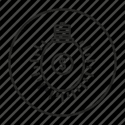 coins, energy, idea, lamp, light icon