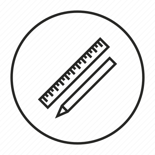 design, measure, measurement, pen, pencil, ruler icon