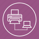 computer, copier, document, office, print, printer, sharing icon