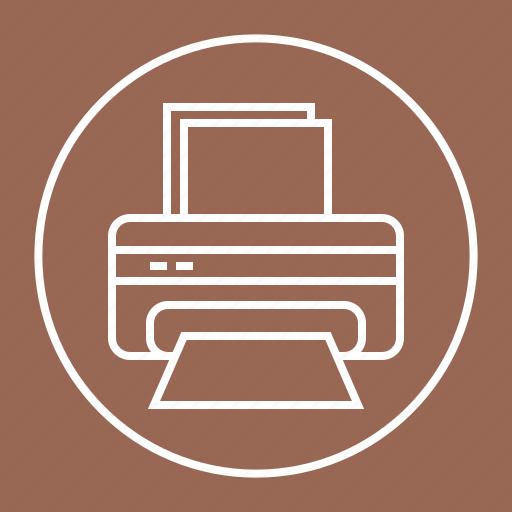 paper, print, printer, printing icon