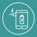 battery, charging, device, mobile, phone icon