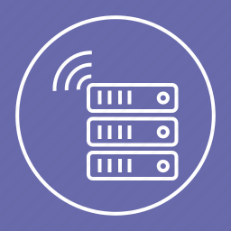 data, hosting, server, storage, wireless icon