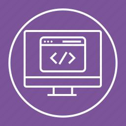 code, coding, development, web icon