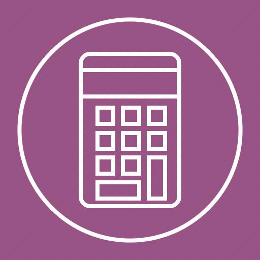 calculate, calculator, math, mathematics icon