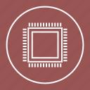computer, cpu, microchip, processor icon
