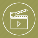 cinema, movie, player, video icon