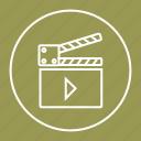 cinema, movie, player, video icon