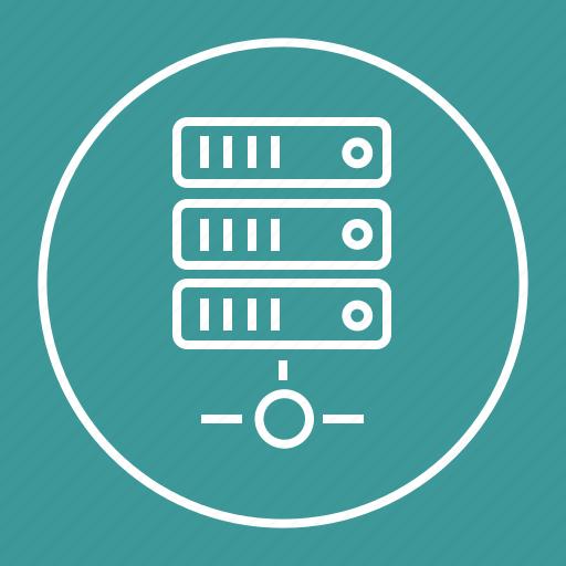 data, database, hosting, server, sharing icon